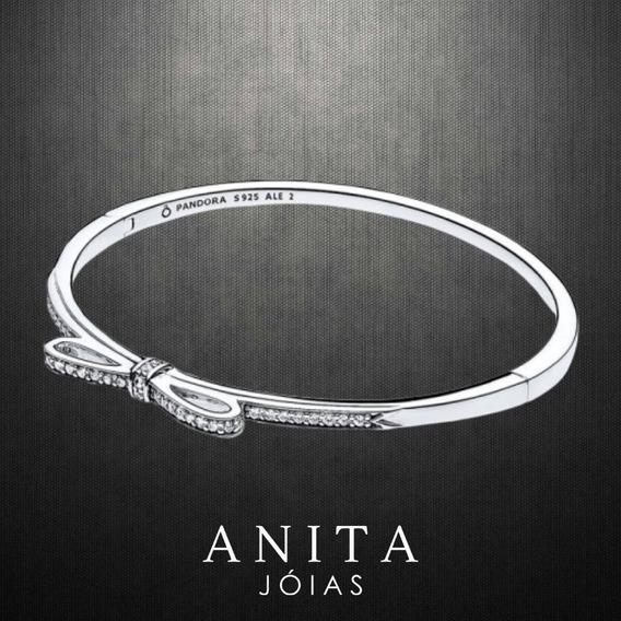 Bracelete Pandora Rígido Laço Brilhante