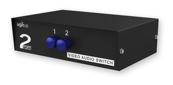 Seletor De Áudio / Vídeo Rca 2 Portas