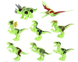 Set De 8 Dinosaurios Luminosos, Brillan Lego Compatible