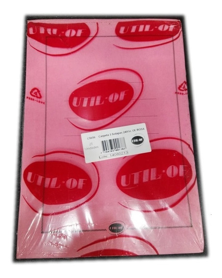 Carpeta 3 Solapas Util-of 240 Gramos Oficio Pack 25 Unidades