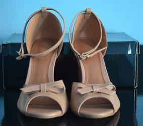 8ad4fb3fc Sapato Feminino Aberto Na Frente Salto Grosso - Sapatos com o ...