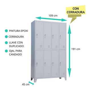 Locker Metálico 8 Ptas Pintura Epoxi C/cerradura Guardarropa