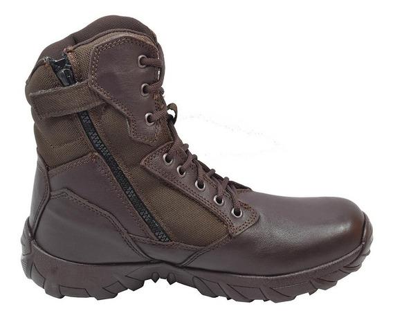 Zapatos Hombre Piel Estilo Bota Café 25-1513 Duty Gear
