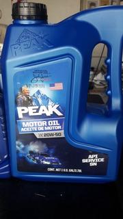 Lubricantes Peak Made In Usa Sae 20w50 Api Sn Multigrado