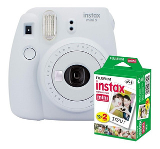 Cámara Instantanea Fuji Film Instax Mini 9 Blanca + Pack 20