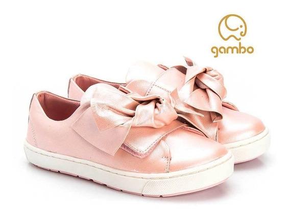 Tênis Infantil Feminino Slip On Glitter Blossom - Gambo