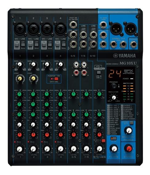 Mesa De Som Yamaha Mg10xu 10 Canais + Efeito + Usb + Garantia + Nfe