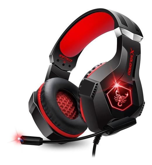 Headset Gamer Scorpion Rgb Usb/p2 Ps4/pc E Celular