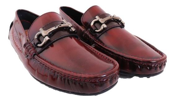 Mocasines De Piel Originales Para Hombre Zapatos Vestir Casuales Elegantes Azules Dorado Comodos