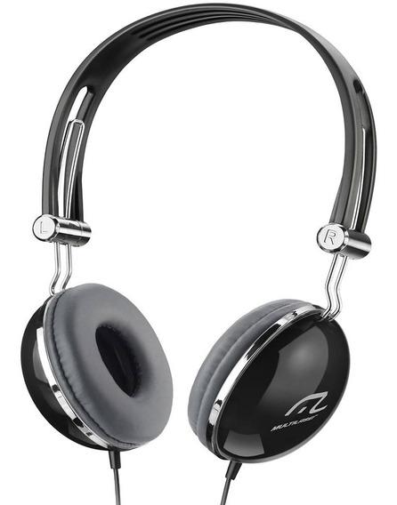 Fone De Ouvido Multilaser Ph053 Vibe Headphone Com Fio Preto