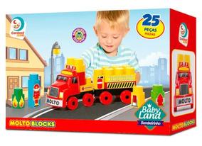 Brinquedos Bebês Caminhão Bombeiros Blocos De Montar Cardoso