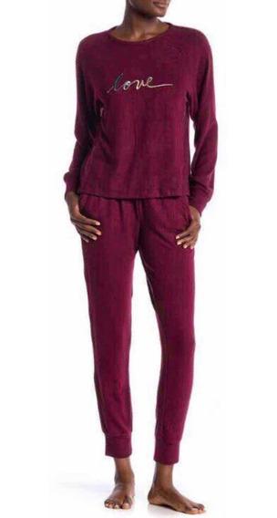 Pijama Dama Talla L Burgundy Precio Original $1450