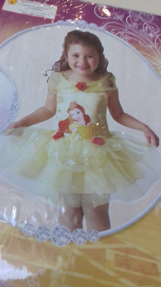 Vestido Fantasia Princesa A Bela E A Fera 2 A 3 Anos