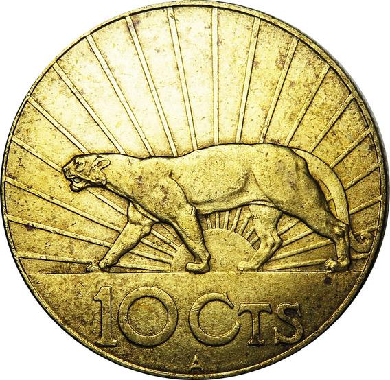 .: Uruguay 10 Cent. 1936 - Bronce Puma - Escasa Asi :.