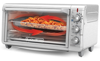 Horno Eléctrico Cook, Frie Sin Grasa, Black + Decker Extra Ancho Pizza 30cm Conveccion Asa Tuesta Hornea