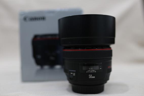 Lente 50mm 1.2 Canon