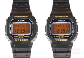 2 Relógio Aqua Gp 477 Wr200m Prova D