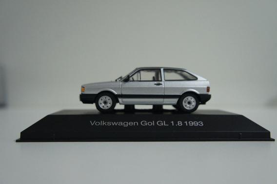Miniatura Volkswagen Gol Gl 1.8 1992 Prata Escala 1:43