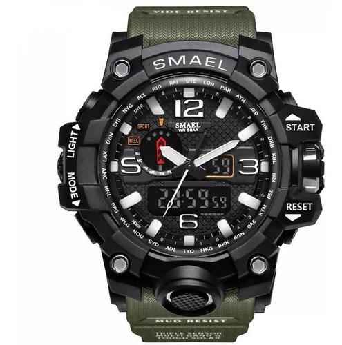 Reloj Hombre Shock Militar Camuflado Analogico,digital, Led