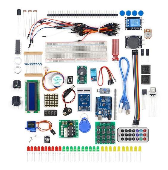 Kit Arduino Compatível Avançado Completo Sensores E Módulos