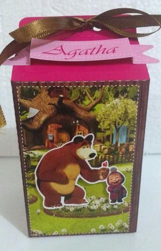 Imagem 1 de 4 de 20 Caixa Milk 3d Personalizada/tema Masha E O Urso.