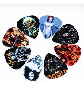 10 Palhetas Personalizada Banda De Rock Paleta Violão 0,71mm