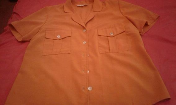 Camisa Estilo Cazadora Naranja
