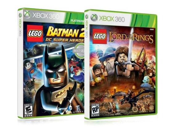 Lote Combo Kit Jogos Lego Xbox 360 Originais Seminovos