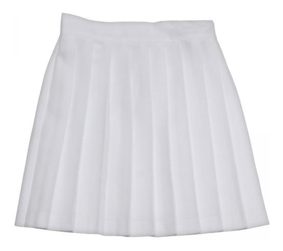Falda Escolar Blanca Talla De La 2 A La 36 115 Pesos C/u