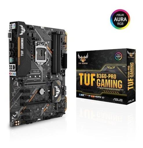 Placa-mãe Asus Tuf B360 Pro Gaming Rgb Intel 8ª E 9ª Lga1151