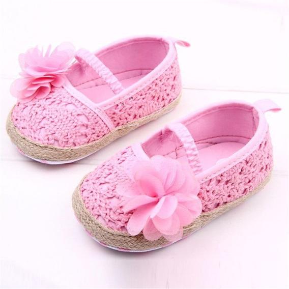 Hermosos Zapatos Para Bebe Niña Princesa Rosa 0-6m Y 7-12m