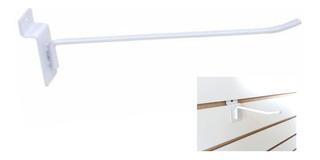 Gancho P/ Painel Canaletado Branco 20cm Kit Com 100 Unidades