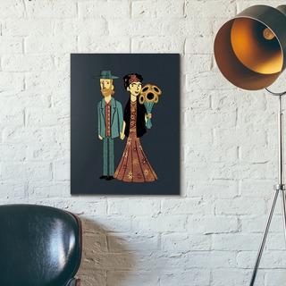 Cuadro Van Gogh Frida Kahlo Moderno En Canvas Con Bastidor