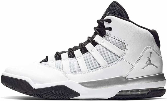 Jordan Max Aura White / Metallic Silver - Black Aq9084 102