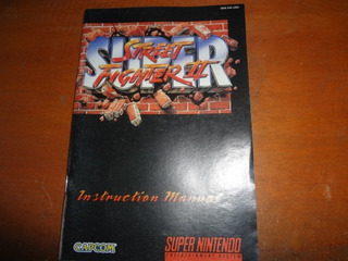 Super Street Fighter 2 -original-solo Manual -super Nintendo