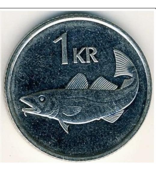 Islandia Moneda De 1 Kronur Año 2007 Sin Circular - Bacalao