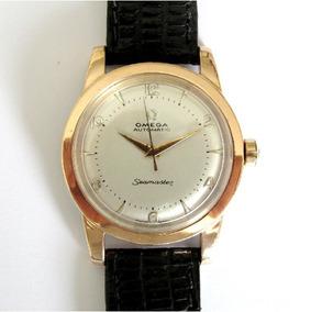Relógio Omega Swiss Automático Bumper, Folhado A Ouro Rosê