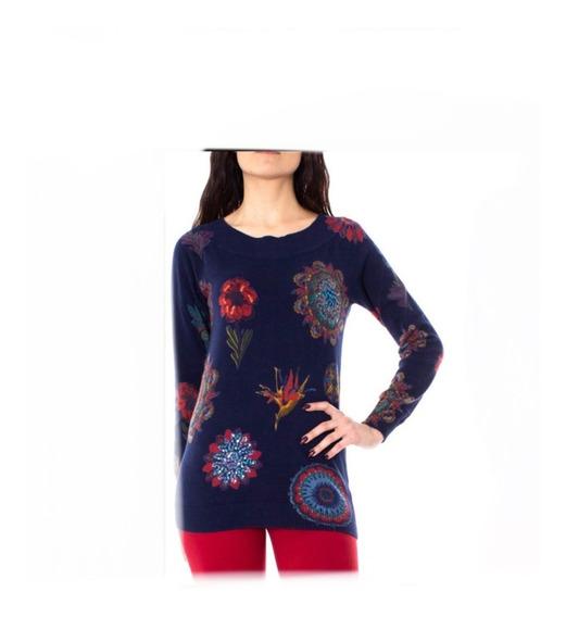 Suéter Desigual Mujer Marino Figuras