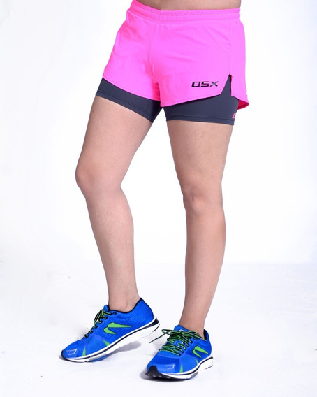 Short Deportivo Con Calza Bolsillo Interno Deza Osx Mujer