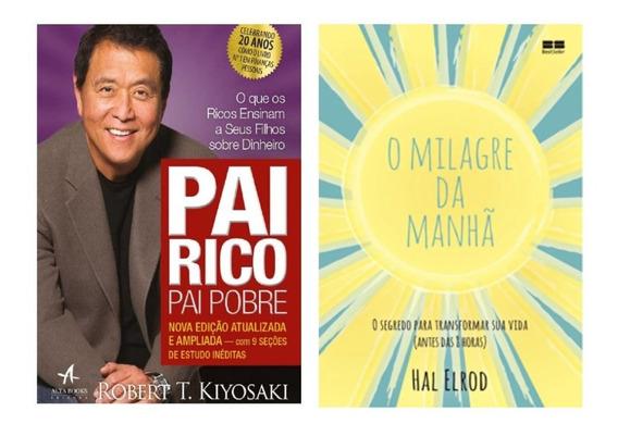 Pai Rico Pai Pobre + O Milagre Da Manhã - Livros Físicos