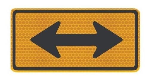 Imagem 1 de 3 de Placa De Trânsito Sentido Duplo Refletivo A-26b Ti