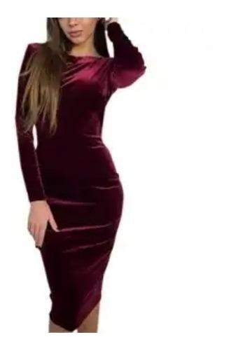 Vestidos Dama Terciopelo Hombros Descubiertos