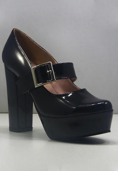 Zapatos De Mujer / Con Plataforma Y Hebilla / De La Cruz