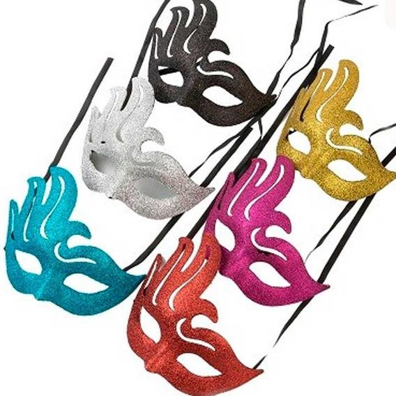 Antifaz Calado Gibre Brillante X 5 Mascaras Venecianas Ap10