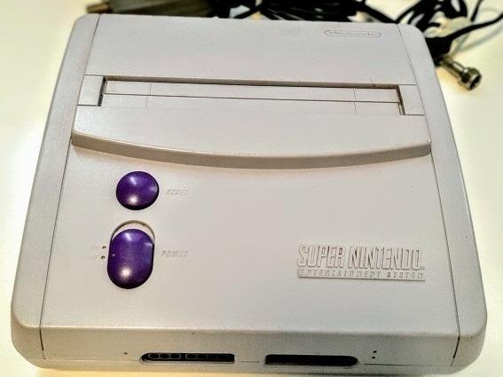 Super Nintendo+2 Controles+1 Jogo Mário World + Fontes