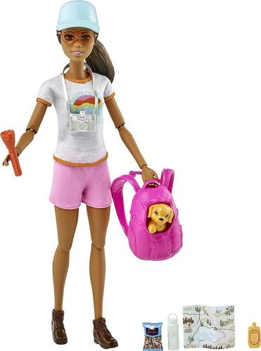 Barbie Caminhada Hiking Negra Articulada 2021 Lançamento