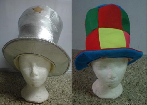 Sombrero Brillante O A Cuadros, Copa Alta Hora Loca Carnaval