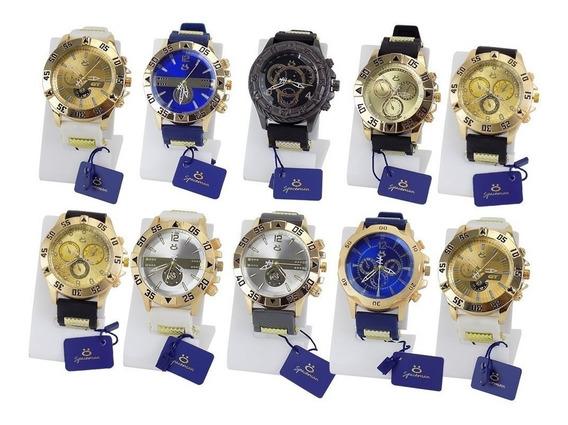 Kit 10 Relógio Masculino Original Atacado Revenda Garantia