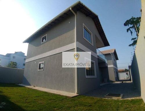 Lançamento! Casas Tipo Apartamento Com Quintal Privativo, Perto Da Rodovia/ Praia De Itapebussus - Ca1121