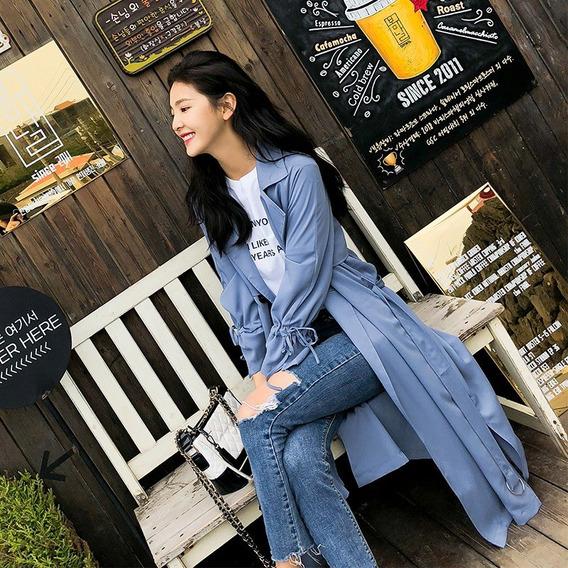 B.0h: Blazer Largo Moda Coreana Saco Vintage Abrigo